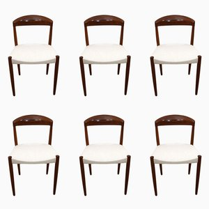 Mid-Century Teak Dining Chairs by J.C.S. Jensen for Knud Andersen, Set of 6