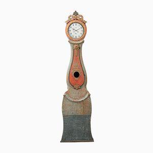 Schwedische Rokoko Uhr mit langem Gehäuse