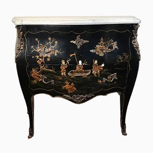Mid-Century French Chinoiserie Bombe Chest, 1950s