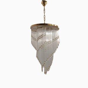 Lampada da soffitto Mid-Century in vetro di Murano, Italia, anni '70
