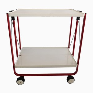 Vintage Powder Coated Steel Trolley, 1980s