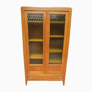 Glass & Oak Cabinet, 1950s