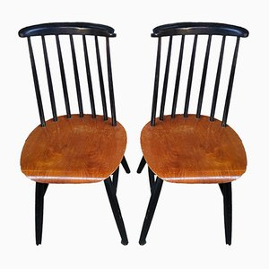Chaises d'Appoint Scandinaves, 1960s, Set de 2