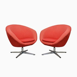 Mid-Century Swivel Chairs by Carl Eric Klote for Overman, 1960s, Set of 2