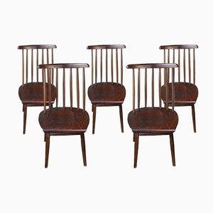 Scandinavian Side Chairs, 1960s, Set of 5