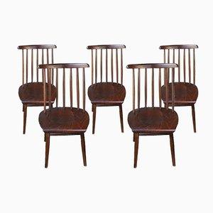Skandinavische Beistellstühle, 1960er, 5er Set