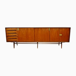 Italian Rosewood and Brass Sideboard from Dassi, 1950s