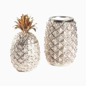Pineapple Ice Bucket & Wine Cooler by Mauro Manetti, 1970s