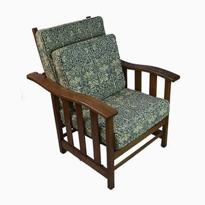 Antique Arts & Crafts Reclining Armchair