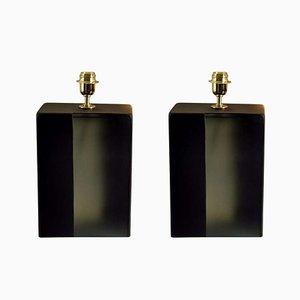 Tischlampen aus Muranoglas, 1980er, 2er Set