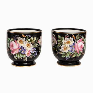 Antique French Napoleon III Vases, Set of 2