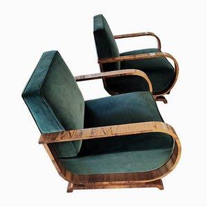 Österreichische Art Deco Vintage Sessel, 2er Set