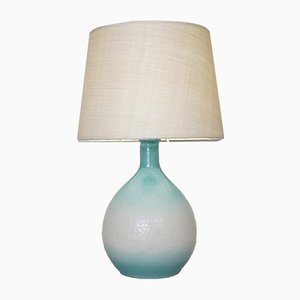 Blue and White Ceramic Table Lamp, 1960s