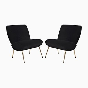Mid-Century French Lounge Chairs, 1960s, Set of 2