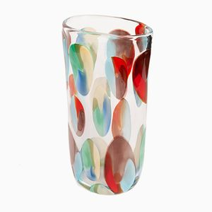 Multicolored Blown Murano Glass Vase from Maestri Muranesi, 2000s