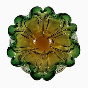 Cuenco italiano vintage de cristal de Murano