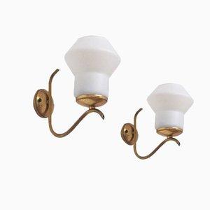 Lampade da parete vintage di Angelo Lelli, Italia, set di 2