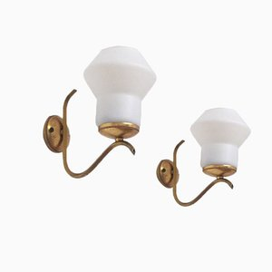 Vintage Italian Wall Lights by Angelo Lelli, Set of 2