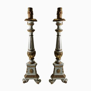 Antique Italian Table Lamps, Set of 2