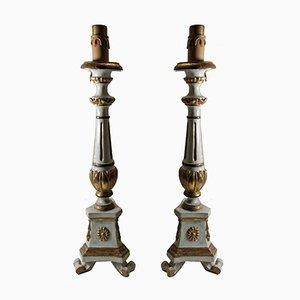 Lámparas de mesa italianas antiguas. Juego de 2
