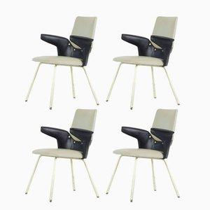 Modell DU 20 Stühle von Gastone Rinaldi für Rima, 1950er, 4er Set