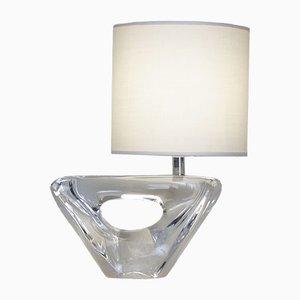 Vintage Tischlampe aus Kristallglas von Daum
