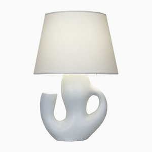 White Satinated Ceramic Lamp