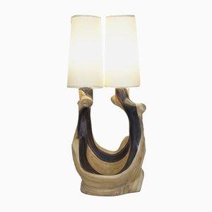 Lampe aus Keramik & Kunstholz