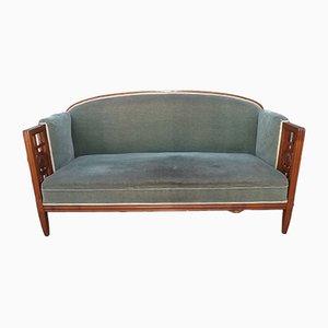 Französische Vintage Sofabank mit Gestell aus Kirschholz von André Groult, 1925
