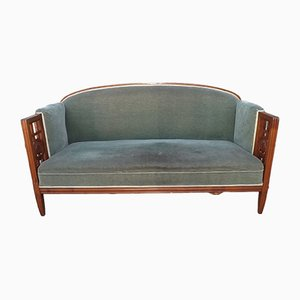 Vintage French Cherry Wood Bench Sofa by André Groult, 1920s