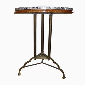 Table de Bistrot Vintage avec Plateau en Granite, France, 1930s