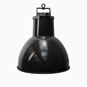 Vintage Industrial Black Enamel Pendant Light