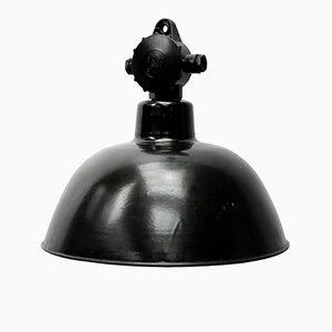 Lampe à Suspension Vintage en Bakélite et Émail Noir, Allemagne