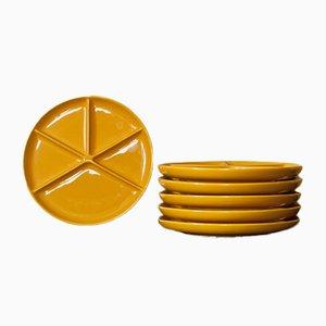 Piatti gialli di Melitta, anni '60, set di 6