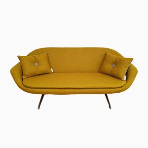 Danish Yellow 2-Seater Sofa, 1970s