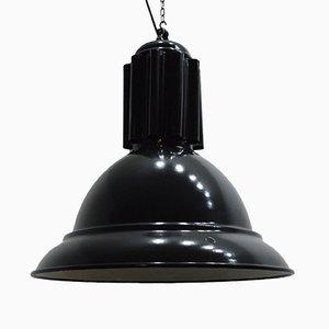Vintage Enameled Industrial Pendant Lamp
