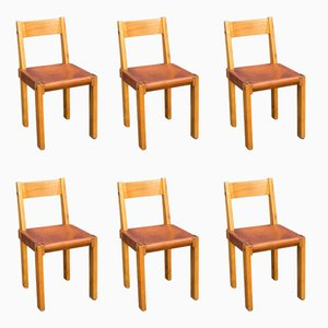 S24 Stühle von Pierre Chapo, 1970er, 6er Set
