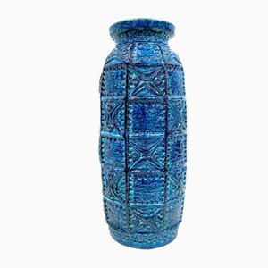 Midcentury Rimini Blue Floor Vase from Bay Ceramic,