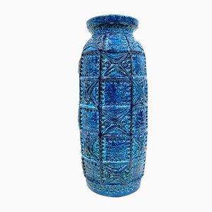 Vase de Plancher Mid-Century Bleu Rimini de Bay Ceramic