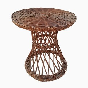 Vintage Handmade Wicker Table, 1960s