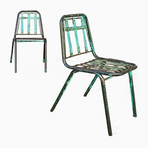 Sedie da giardino vintage, anni '70, set di 2