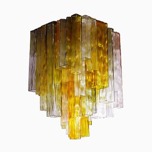 Four-Color Glass Flush Mount Ceiling Light by Paolo Venini for Barovier & Toso, 1960s