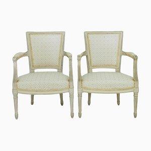 Louis XVI Armlehnstühle von Maison Jansen, 2er Set