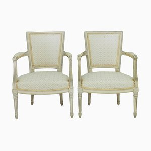 Louis XVI Style Armchairs by Maison Jansen, Set of 2