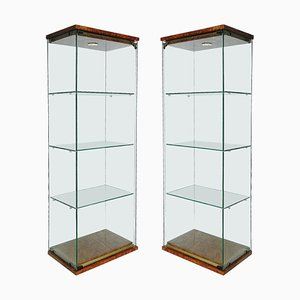 Mid-Century Illuminated Vitrines Showcase Cabinets by Pierre Vandel, Set of 2