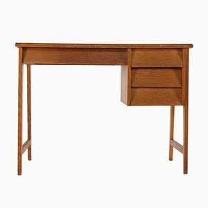 Modernist French Oak Desk, 1950s