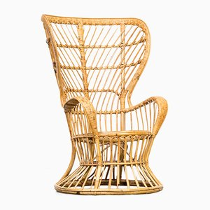 Model Biancamano Wicker Chair by Gio Ponti & Lio Carminati for Vittorio Bonacina, 1950s