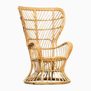 Model Biancamano Wicker Chair by Gio Ponti & Lio Carminati for Vittorio Bonacina, 1950s