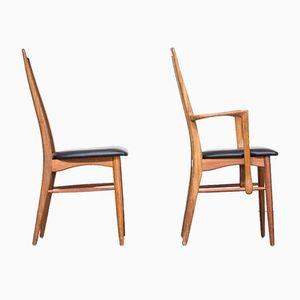 Model Eva Dining Chairs by Niels Koefoed for Koefoed Hornslet, Set of 5