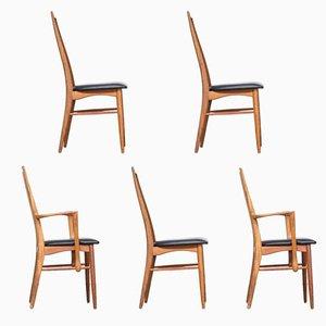Chaises de Salon Modèle Eva par Niels Koefoed pour Koefoed Hornslet, Set de 5